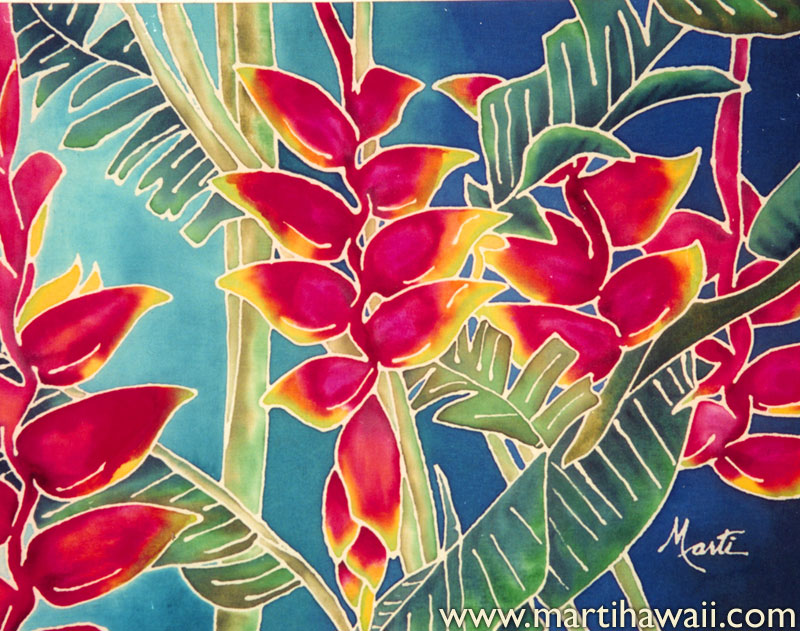 Bright Heliconia by Marti Wiese Rounds