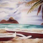 Lanikai Canoes by Marti Wiese Rounds