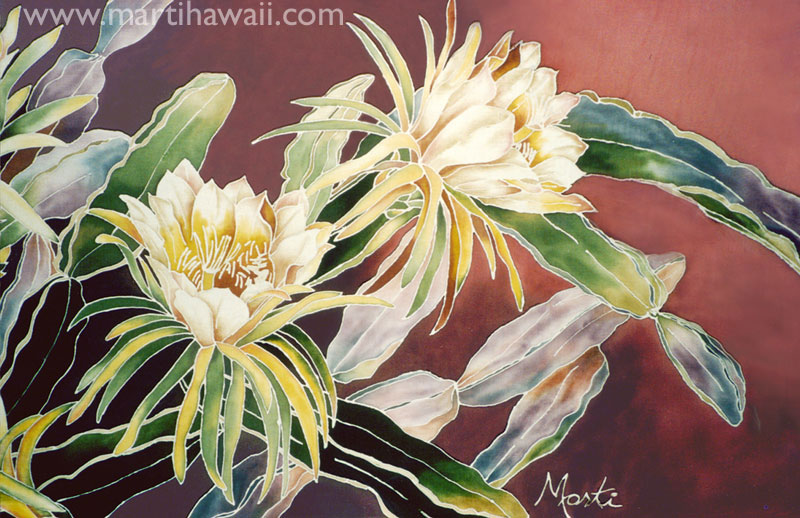 Night Blooming Cereus by Marti Wiese Rounds