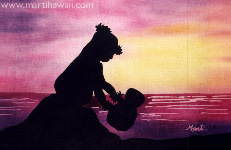 Silhouette Hula by Marti Wiese Rounds