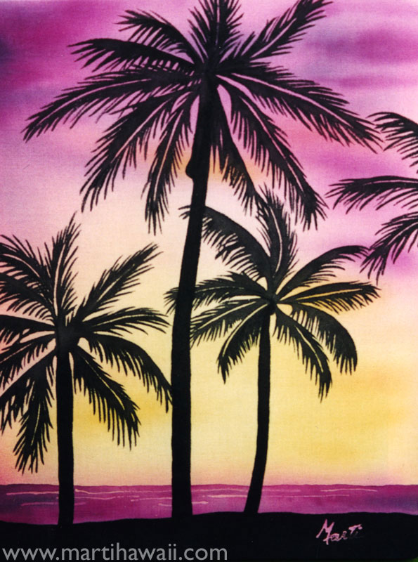 Silhouette Palms by Marti Wiese Rounds