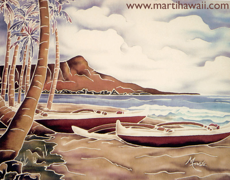 Two Canoes by Marti Wiese Rounds