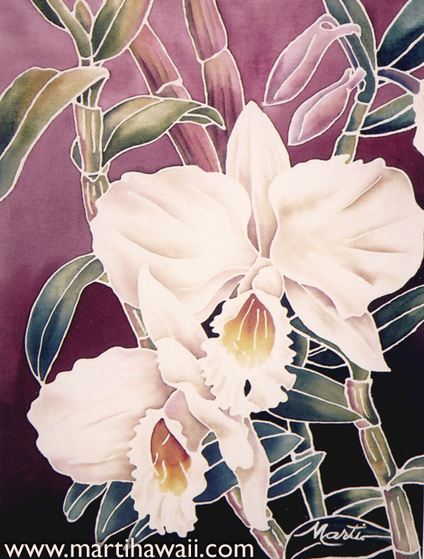 White Orchids by Marti Wiese Rounds