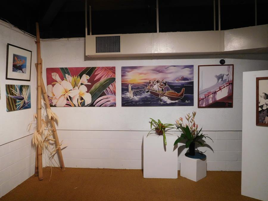 Art by Marti Rounds at Ho'omaluhia gallery